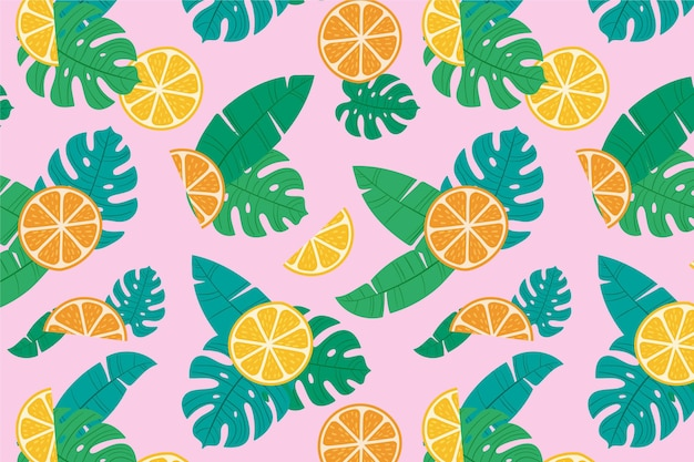 Summer pattern for zoom wallpaper design