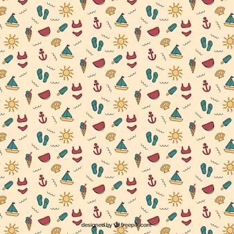 Summer pattern Free Vector