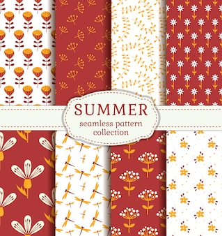 Summer patterns. vector seamless pattern.