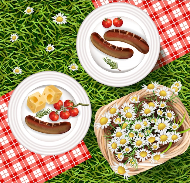 Summer picnic outdoors