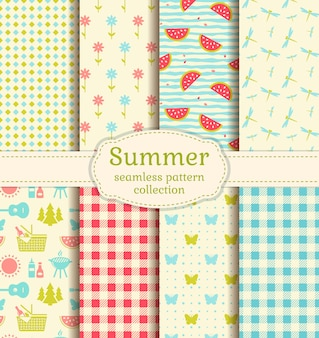 Summer picnic patterns.