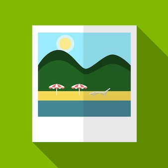 Summer picture flat icon illustration isolated vector sign symbol
