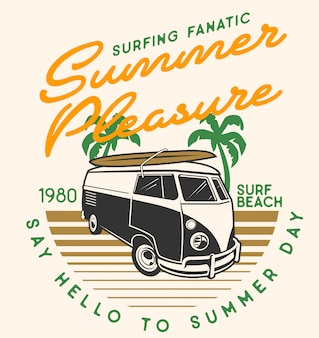 Summer pleasure camper car