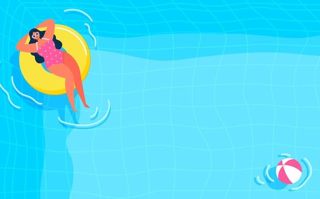 夏のプールの背景図
