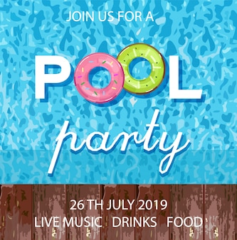 Summer pool party poster