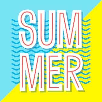 Summer poster.  banner . typographic illustration for greeting cards, invitation, prints, flyers.