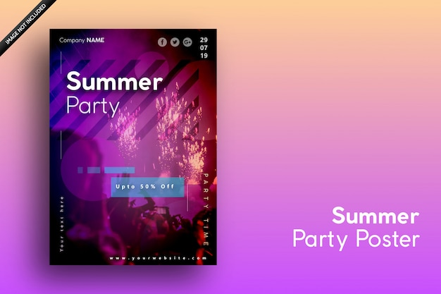 Summer poster for holidays, party and sale