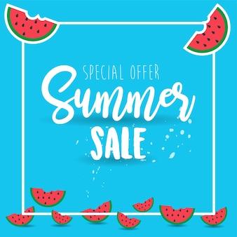 Summer Poster or Background Design Template