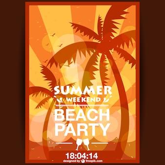 Лето плакат партии закат