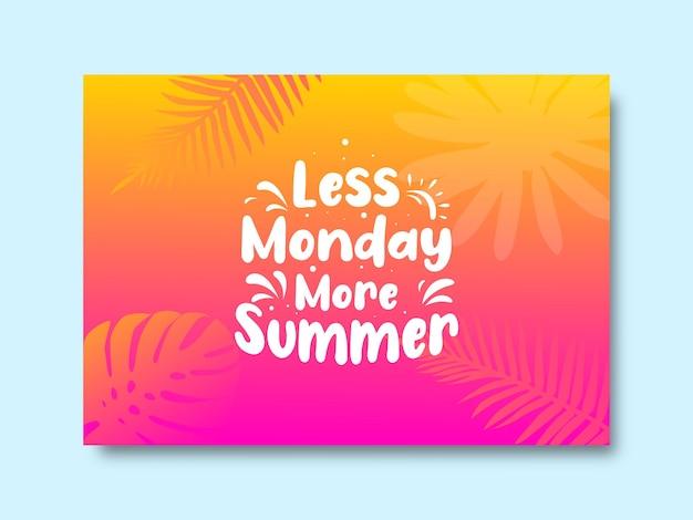 Summer quote design template