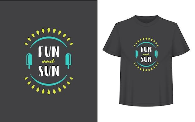Летнюю цитату или поговорку можно использовать для футболки, кружки, поздравительной открытки, фото наложений, декоративных принтов и постеров. веселье и сообщение солнца, векторные иллюстрации.