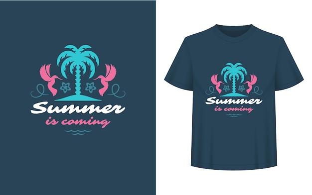 Летняя цитата или поговорка можно использовать для наложений фотографий поздравительных открыток на футболку