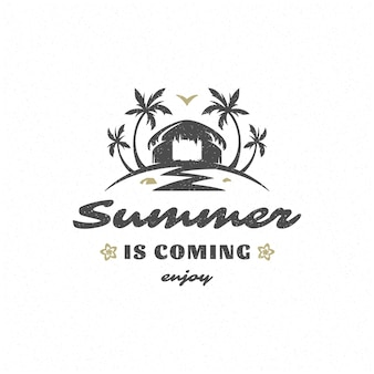 Summer quote or saying can be used for t-shirt, mug, greeting card, photo overlays, decor prints and posters. summer is coming message, vector illustration.