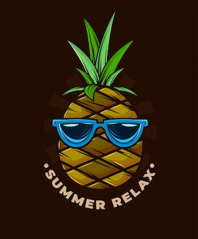 Summer relax pineapple art.