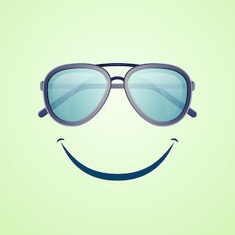 Плакат для летнего отдыха с солнцезащитными очками
