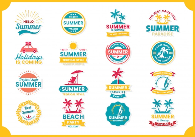 Summer retro vector for banner