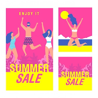 Summer sale advertising