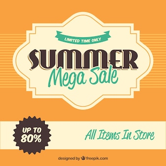 Summer sale background in vintage style