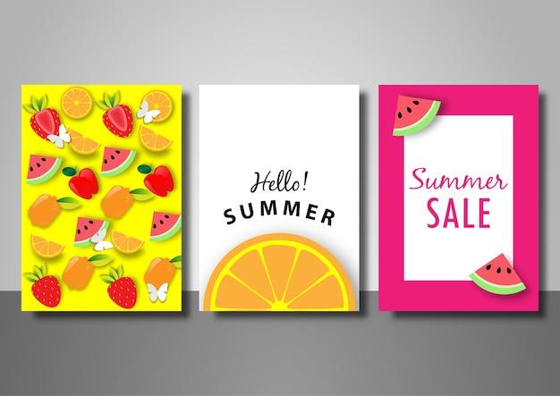 Набор летних распродаж