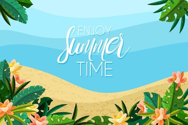 Summer sale background theme