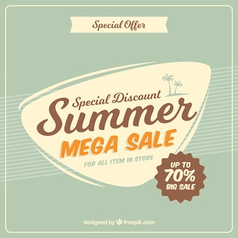 Summer sale background in vintage style