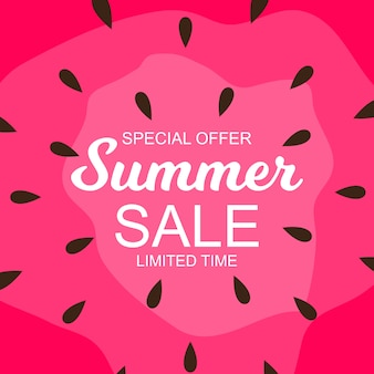 Summer sale background with watermelon