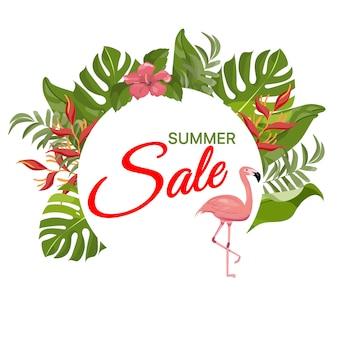 Summer sale background.
