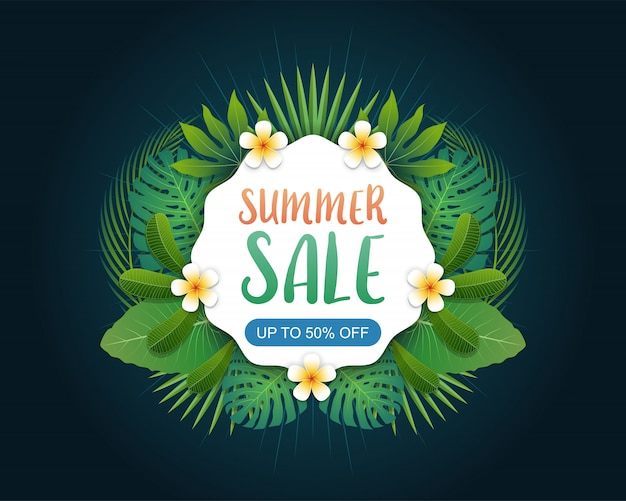 Summer sale banner background layout
