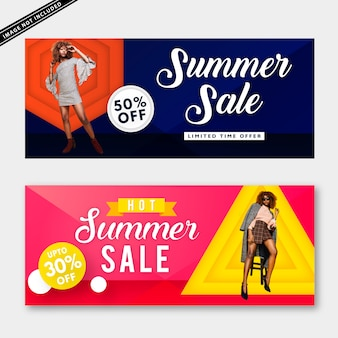 Summer sale banner collection