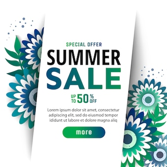 Summer sale banner design template.