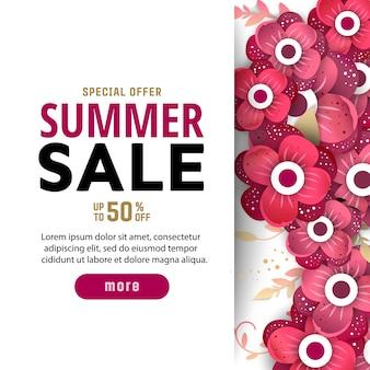 Summer sale banner design template.