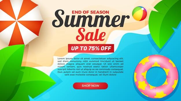 Summer sale banner end of season