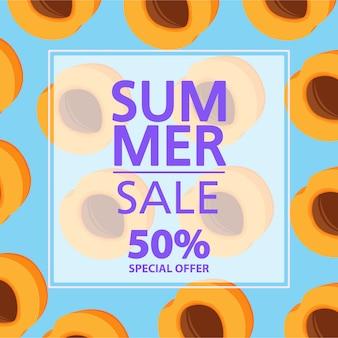 Summer sale banner.offers a 50% discount.