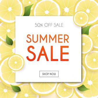 Summer sale banner. poster, flyer,  . blurred background.