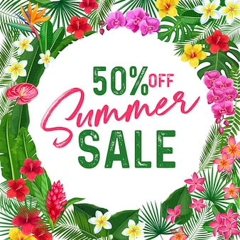 Summer sale banner or poster.