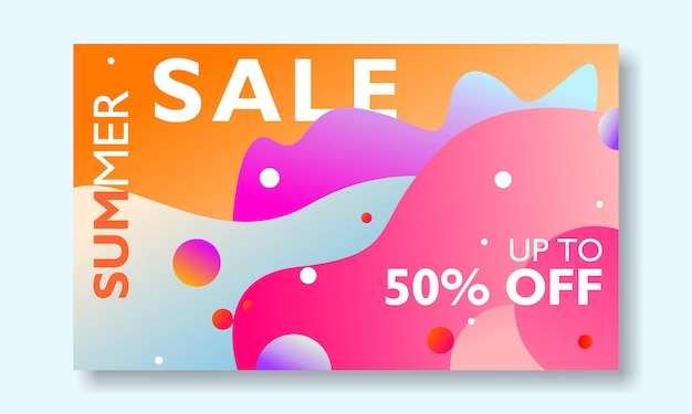 Summer sale banner promotion