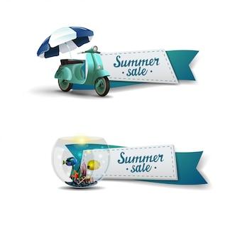 夏のセールのバナーセット