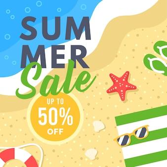 Summer sale banner for social media marketing
