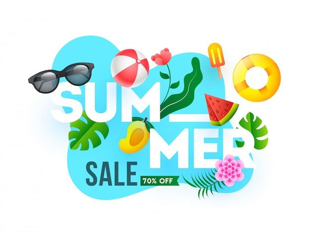 할인 판매 여름 세일 배너 서식 파일 디자인