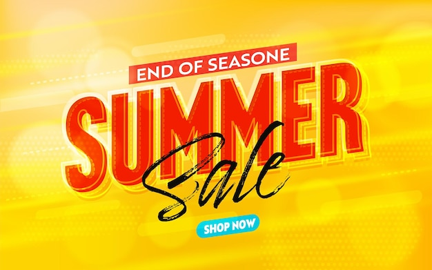 Summer sale banner template to end of season