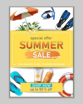 Summer sale banner template