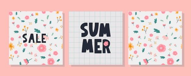 Летняя распродажа баннер с буквой цветов