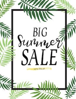 Баннеры и шаблон летней распродажи. яркий дизайн векторных иллюстраций для баннера, флаера, обоев. рекламные товары для скидок, плакат, брошюра, ваучер на скидку