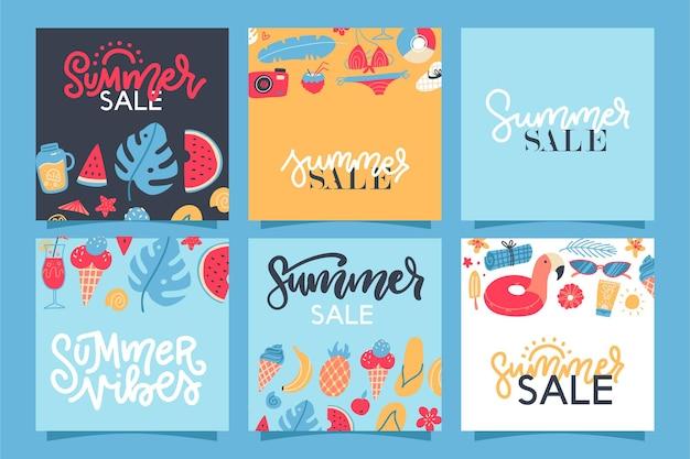 Коллекция баннеров летней распродажи