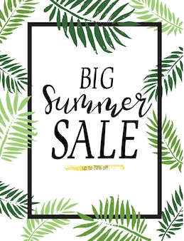 Summer sale banners and template. bright vector illustrations design for banner, flyer, wallpaper. promotional discount shop materials, poster, brochure, voucher discount