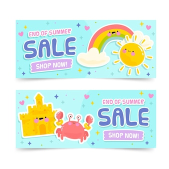 Summer sale banners template