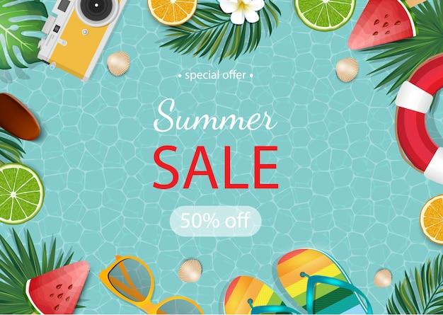 Summer sale beautiful banner.
