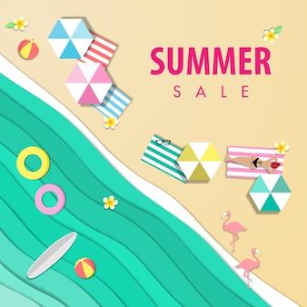 Summer sale beautiful beach background