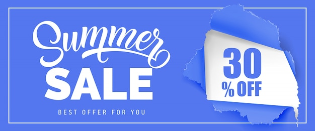 Summer sale best offer for you thirty percent off lettering.