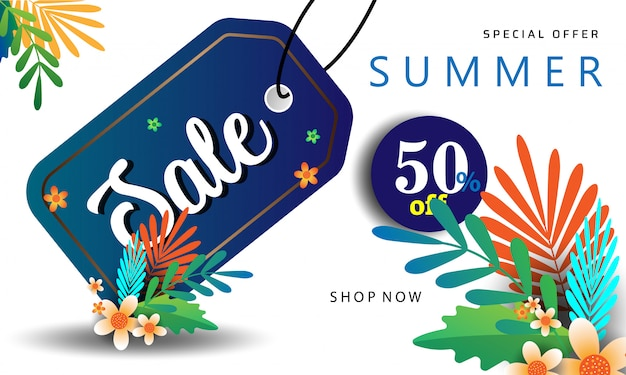 Summer sale beutiful color background